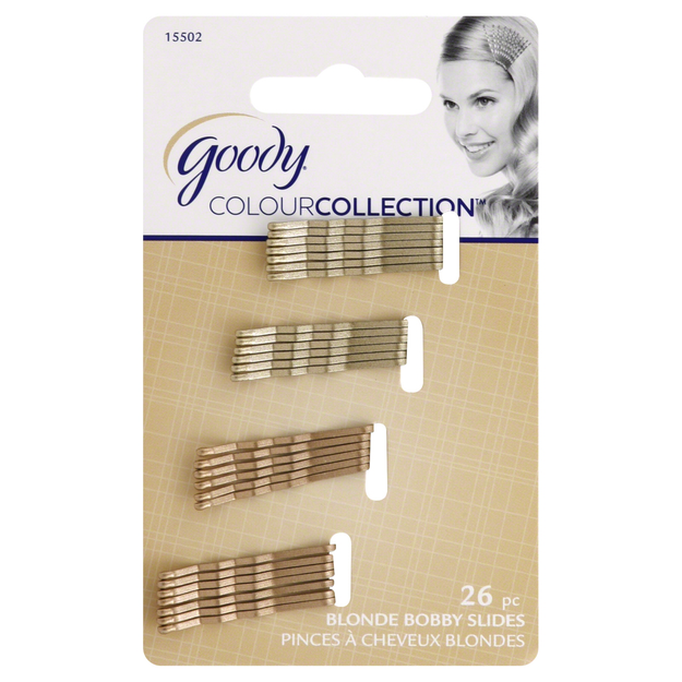 Goody Colour Collection Small Metallic Bobby Slide, Blonde, 26 CT