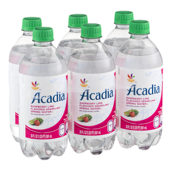 Acadia Sparkling Spring Water Raspberry Lime - 6 PK