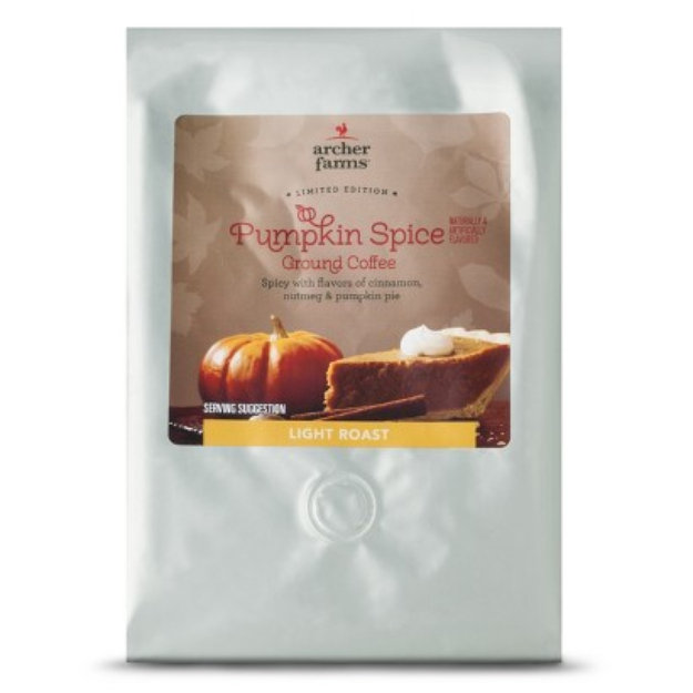 Coffee Bean International Archer Farms Pumpkin Spice Light Roast Ground Coffee 20 oz