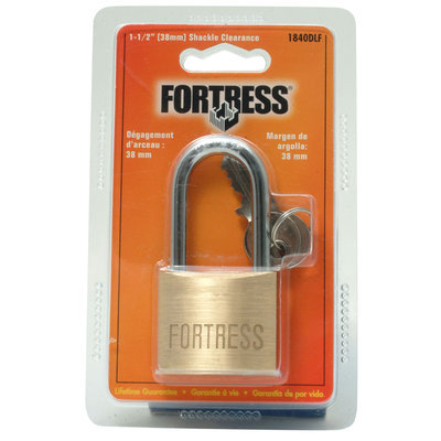 Master Lock 1840DLF 1-1/2 Shackle Solid Brass Padlock