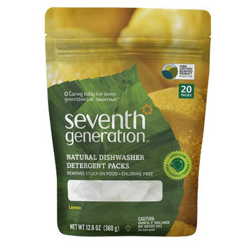 Seventh Generation Natural Dishwasher Detergent Packs - Lemon (12.6