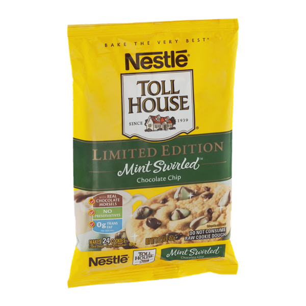 Nestlé® Toll House® Chocolate Chip Cookies Mint Swirled