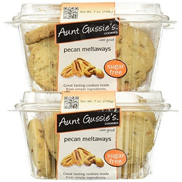 Aunt Gussie's Sugar Free Classic Pecan Meltaways, 7-Ounce Tubs (Pack of 4)