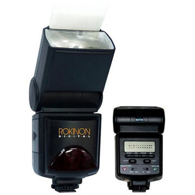 Rokinon E-TTL Power Zoom Bounce-Swivel Flash w/LCD Panel, GN45 - For Canon