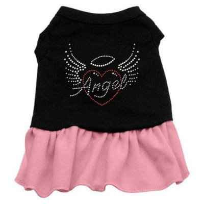 Ahi Angel Heart Rhinestone Dress Black with Pink XXXL (20)