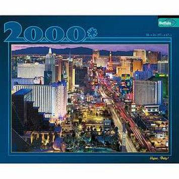 Buffalo Games Las Vegas at Night 2000 pc Jigsaw Puzzle Ages 10+, 1 ea