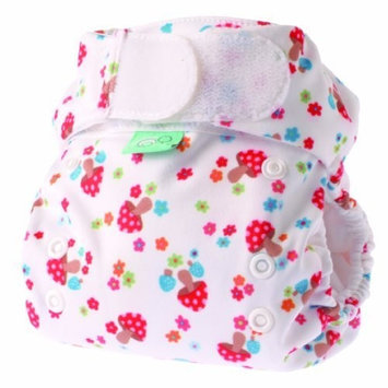 Bummis Tots Bots Easy Fit Diaper, Mushroom Magic, 8-35 Pounds