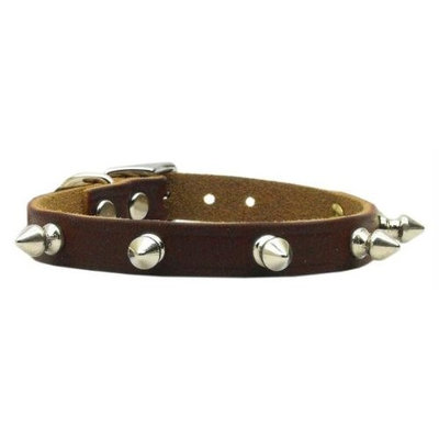 Mirage Pet Products 8205 14BG Spike Leather Burgundy 14