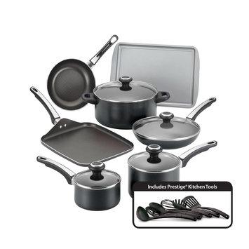 Meyer Corporation Us Farberware High Performance Black Nonstick 17-piece Cookware Set