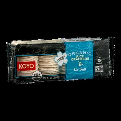 Koyo Organic Rice Crackers No Salt