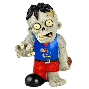 Recaro North Forever Collectibles NCAA Resin Zombie Figurine, University of Kansas Jayhawks