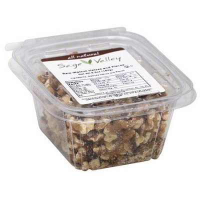 Generic Sage Valley Raw Walnut Halves and Pieces, 6.5 oz (Pack of 6)