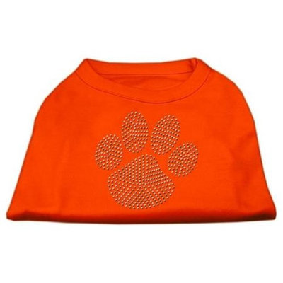 Ahi Clear Rhinestone Paw Shirts Orange Med (12)