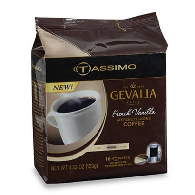 Gevalia French Vanilla Coffee, 16-Count T-Discs for Tassimo Professional (Foodservice) Coffeemakers (Pack of 5)