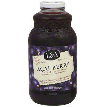 L A L&A Acai Berry Juice, 32 oz (Pack of 6)