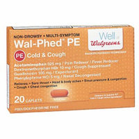Walgreens Wal-Phed PE Cough & Cold Caplets