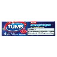 Tums TUMS Chewy Delights Ultra Strength Cherry Soft Chews - 6 Count