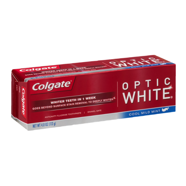 Colgate Optic White Anticavity Fluoride Toothpaste Cool Mint