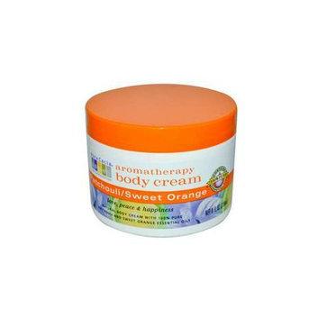 Aura Cacia Patchouli/Sweet Orange  Aromatherapy Body Cream  8 oz.  jar 188255
