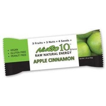 Nugo Nutrition Bar Nugo 10, Apple Cinnamon 12 Bars