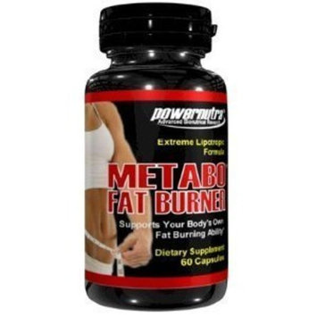 Powernutra Metabo Fat Burner - 60 Capsules Extreme Fat Burner Formula Lipotropics L-Carnitine Weight Loss Diet Pills