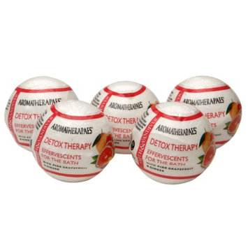 Aromatherapaes Effervescents for the Bath, Detox, Pink Grapefruit & Ginger, 5 ea