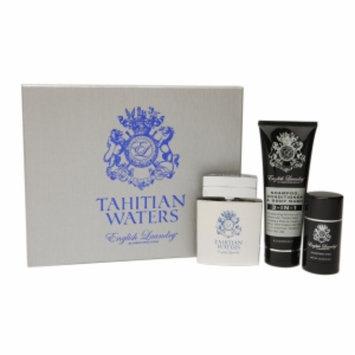 English Laundry Tahitian Waters 3 Piece Gift Set Eau de Parfum, 3.4 fl oz