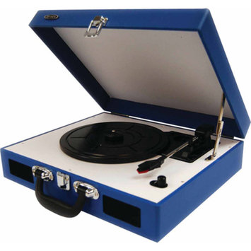 Audiovox JENSEN JTA-410-BL PORTABLE 3-SPEED STEREO TURNTABLE WITH BUILT-IN SPEAKERS (BLUE)