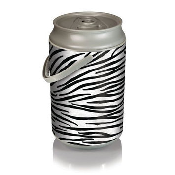 Picnic Time Mega Can Cooler - Zebra Print Can