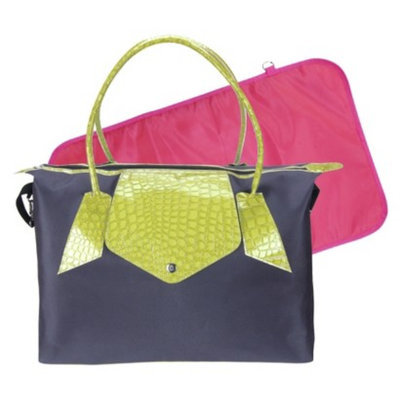 Trend Lab Rendezvous Tote Diaper Bag - Gray/Lime Green by Lab