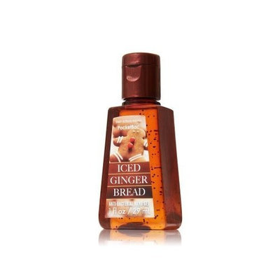 Bath Body Works iced ginger bread anti-bacterial hand gel pocketbac 1 fl oz