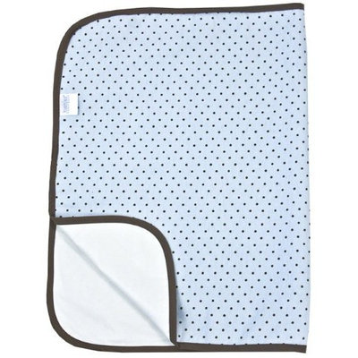 Kushies Deluxe Flannel Change Pad, Blue with Brown Dots