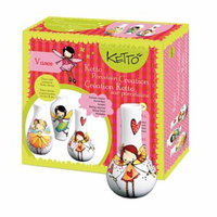 KETTO Paint-it-yourself Vases Fairy Theme Ages 8+, 1 ea