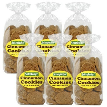 Seitenbacher Cinnamon Cookies, 8.8-Ounce Bags (Pack of 6)