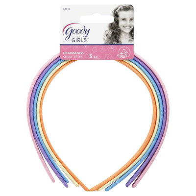 Goody Girls Classics Fabric Headband, 5 CT