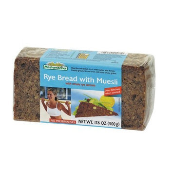 Mestemacher Rye Bread with Muesli, 17.6-Ounce Units (Pack of 12)