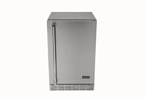 Coyote CBIRL 4.1 Cu. Ft. Stainless Steel Compact Refrigerator - Left Hinge