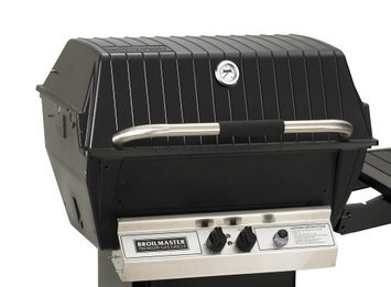 Broilmaster H4XN Natural Gas Deluxe Grill with Charmaster Briquets and 2 SS