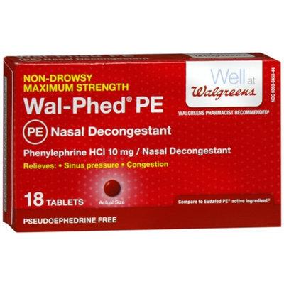 Walgreens Wal-Phed PE Nasal Decongestant Tablets