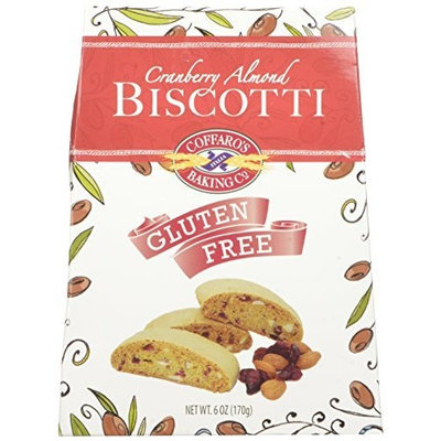 Coffaro's Baking Company Biscotti, Cranberry Almond, 6-Ounce (Pack of 3)