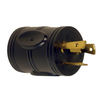 Prime Wire RVADT30 RV Adapter, 30 Amp Twist-to-Lock Plug and 30 Amp Connector, Black