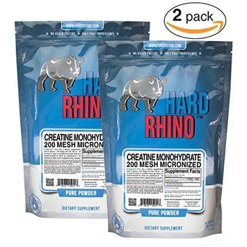 Hard Rhino Pure Creatine Monohydrate Micronized 200 Mesh Bulk Powder. (1000G)
