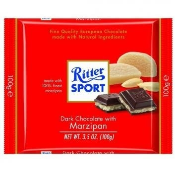 Ritter Sport Dark Chocolate w/ Marzipan