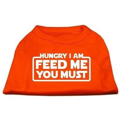 Ahi Hungry I Am Screen Print Shirt Orange Lg (14)
