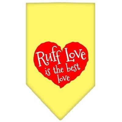 Ahi Ruff Love Screen Print Bandana Yellow Small