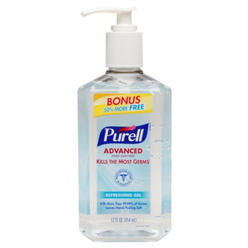 Purell Advanced Hand Sanitizer, Bonus Size Pump, Original, 12 fl oz