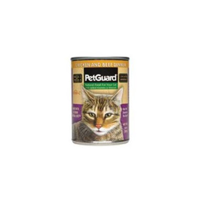Petguard Chicken and Beef Cat Food 14 Oz. -Pack of 12