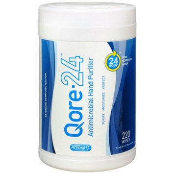 Qore 24 Antimicrobial Hand Purifier Wipes, 220 ea