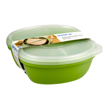 Preserve Food Storage Square Green - 2 PK