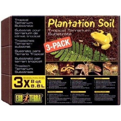 Rc Hagen Exo Terra Plantation Soil, 8 Quarts, 3-Pack